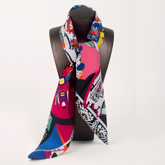 90cm Silk Scarf-Square Silk Scarf-Wholesale Scarfs-HA7020A