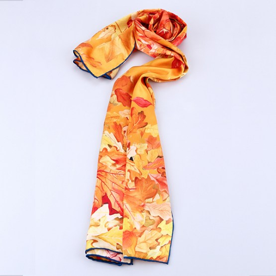 Long Silk Scarf-Digital Silk Scarf-Silk Scarf China-ALL012A