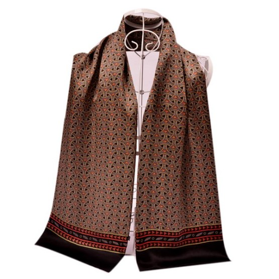Mens Silk Scarf-Double Layers MSSD020C