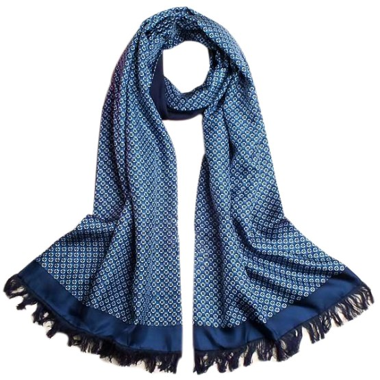 Mens Silk Scarf-Double Layers-Thick MSDT017A