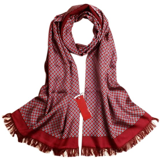 Mens Silk Scarf-Double Layers-Thick MSDT017D