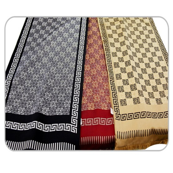 Mens Silk Scarf-Double Layers-Thick MSDT02