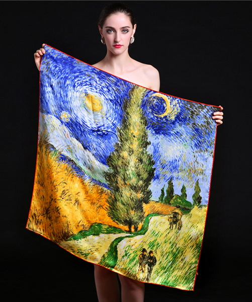 Silk Scarf-Famous Paintings-90SFP011