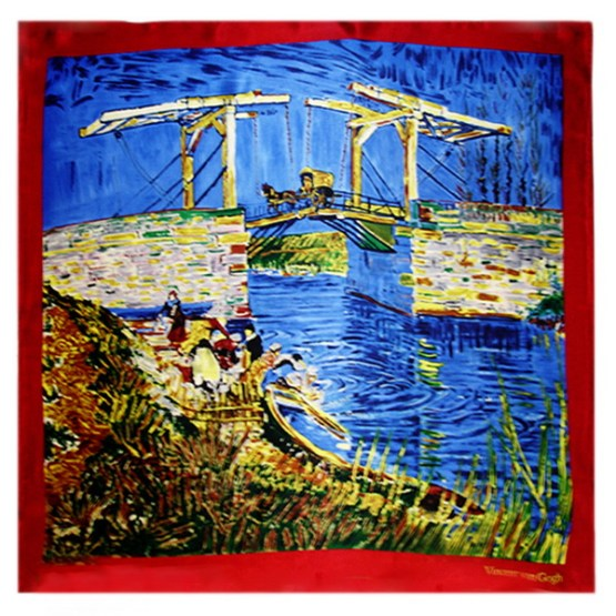 Silk Scarf-Famous Paintings-China Silk Scarf, Digital Silk Scarf