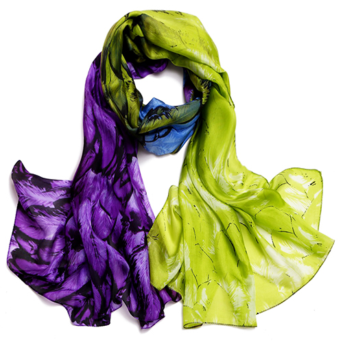 Silk Scarf -Infinity Scarf -Silk PAJ Scarf-Further-SPPU03A