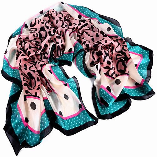 Silk Scarf -Infinity Scarf -Silk PAJ Scarf-Leopard-SPLE011A1