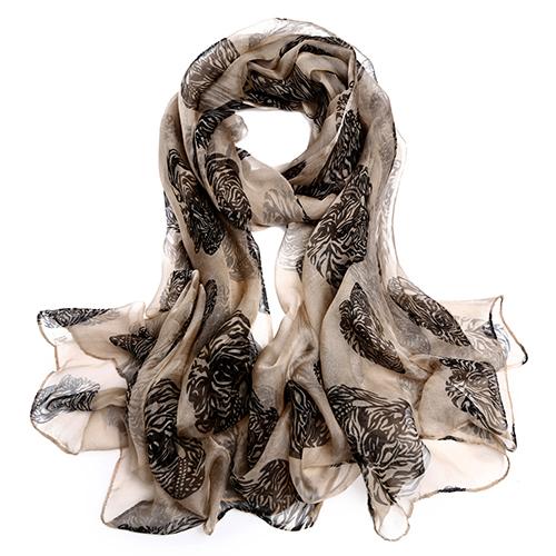 Silk Scarf-Silk Georgette Scarf-Infinity Scarf-ISGS0132