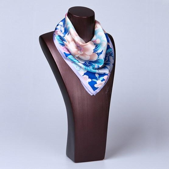 Square Silk Scarf-55CM Silk Scarf-Silk Scarf China- HHS013A