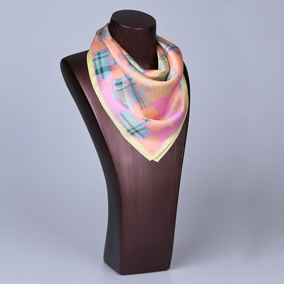 Square Silk Scarf-55CM Silk Scarf-Silk Scarf China- HHS014A