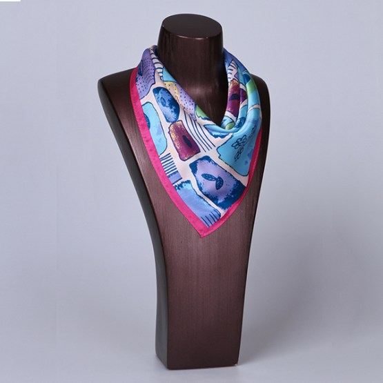 Square Silk Scarf-55CM Silk Scarf-Silk Scarf China- HHS016A