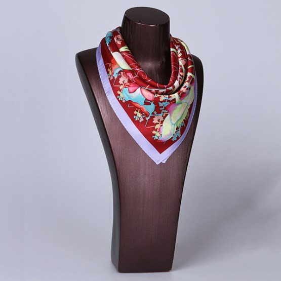 Square Silk Scarf-55CM Silk Scarf-Silk Scarf China- HHS018D