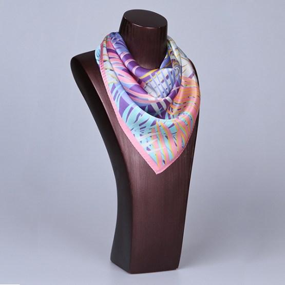 Square Silk Scarf-55CM Silk Scarf-Silk Scarf China- HHS023C