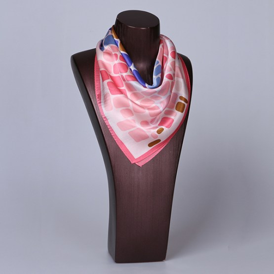 Square Silk Scarf-55CM Silk Scarf-Silk Scarf China- HHS024A