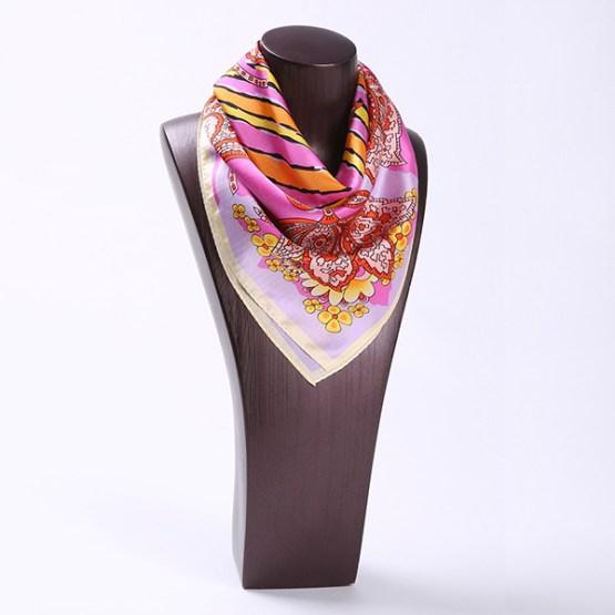 Square Silk Scarf-55CM Silk Scarf-Silk Scarf China- HHS028A