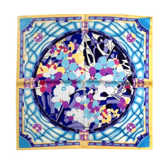 Square Silk Scarf-55CM Silk Scarf-Silk Scarf China- HHS04C