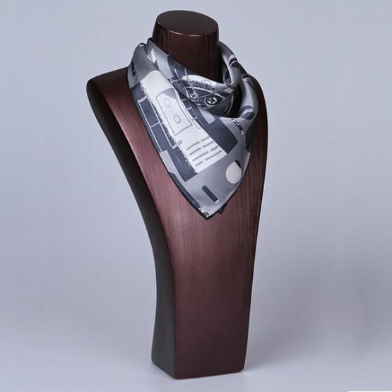 Square Silk Scarf-55CM Silk Scarf-Silk Scarf China- HHS08C