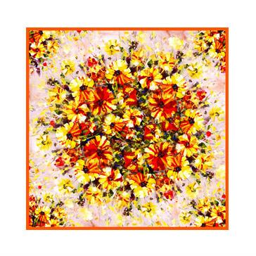 Square Silk Scarf-Silk Scarf-Digital Silk Scarf-100AA014A