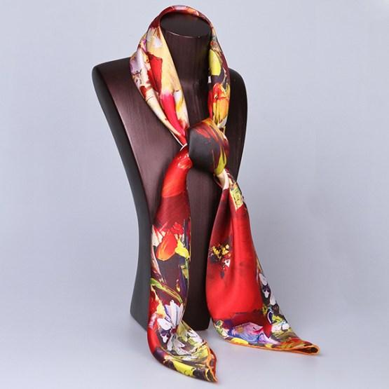 Square Silk Scarf-Silk Scarf-Digital Silk Scarf-100AA019