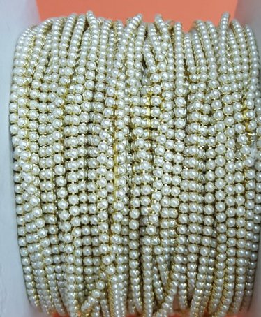 Jewellery Making Pearl Chain for Silk Thread Jewelry Making