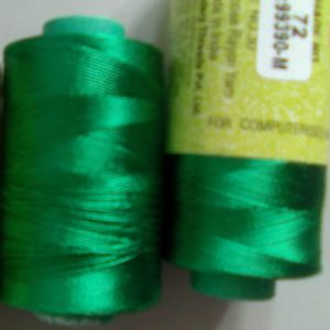 Green silk thread