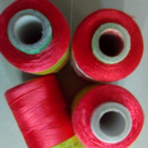 Light pink silk thread