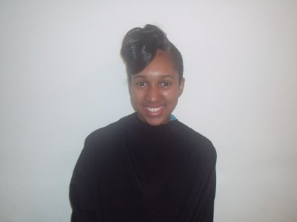 Natural Hair Updo (Front)