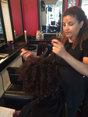 Before - Natural Hair Styling
