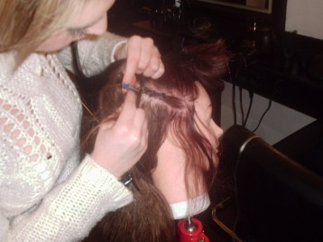 Silk Trends Hair Braiding Course - Adding weave extensions - Before