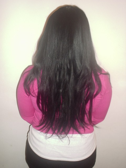 Full Head Long Style Weave (Back)