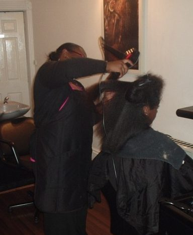 Academy Course - Natural Afro Hair Styling by Student