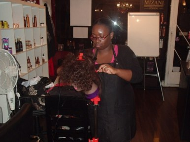 Academy Course - Natural Hair Blow Dry by Student