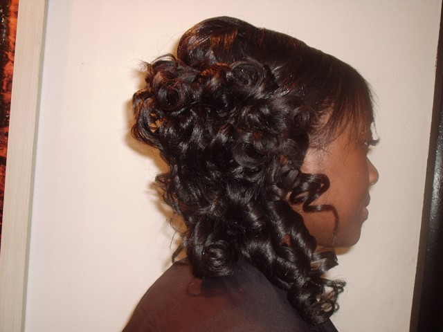 Half Up, Half Down and to the Side (After Side View)
