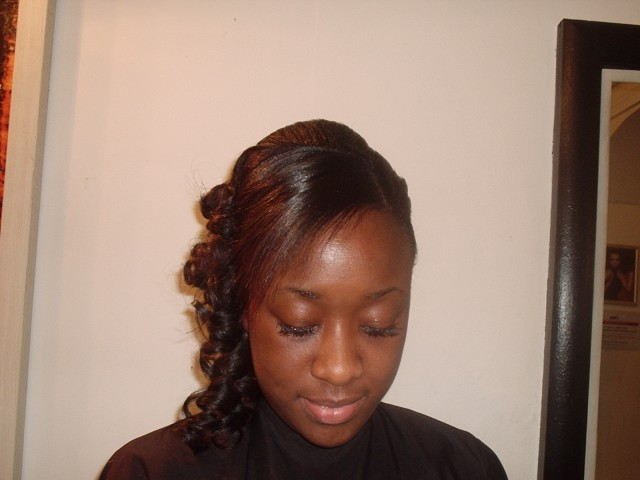 Half Up, Half Down and to the Side (After Front View)