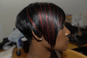 Sleek Short Style with a flash of Red 3