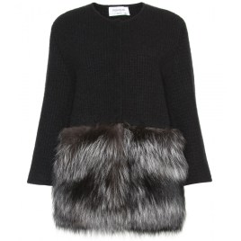 YSL, cardigan with fur