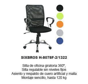 silla de oficina giratoria SixBros
