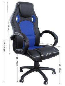 Silla de escritorio Songmics Racing OBG56L