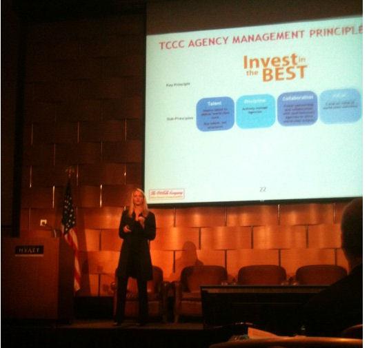 Sarah Amstrong de Coca Cola en la conferencia de la ANA. Foto subida a Twitter por cc chapman