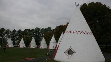 Wigwam Village Inn #2 teepee shaped motel in Cave City, Kentucky