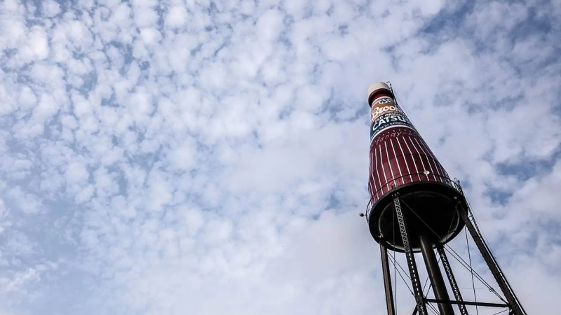 World's Largest Catsup Bottle in Collinsville, Illinois