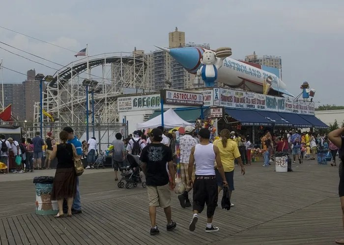 Astroland with an A&W Happy Family at Coney Island in New York