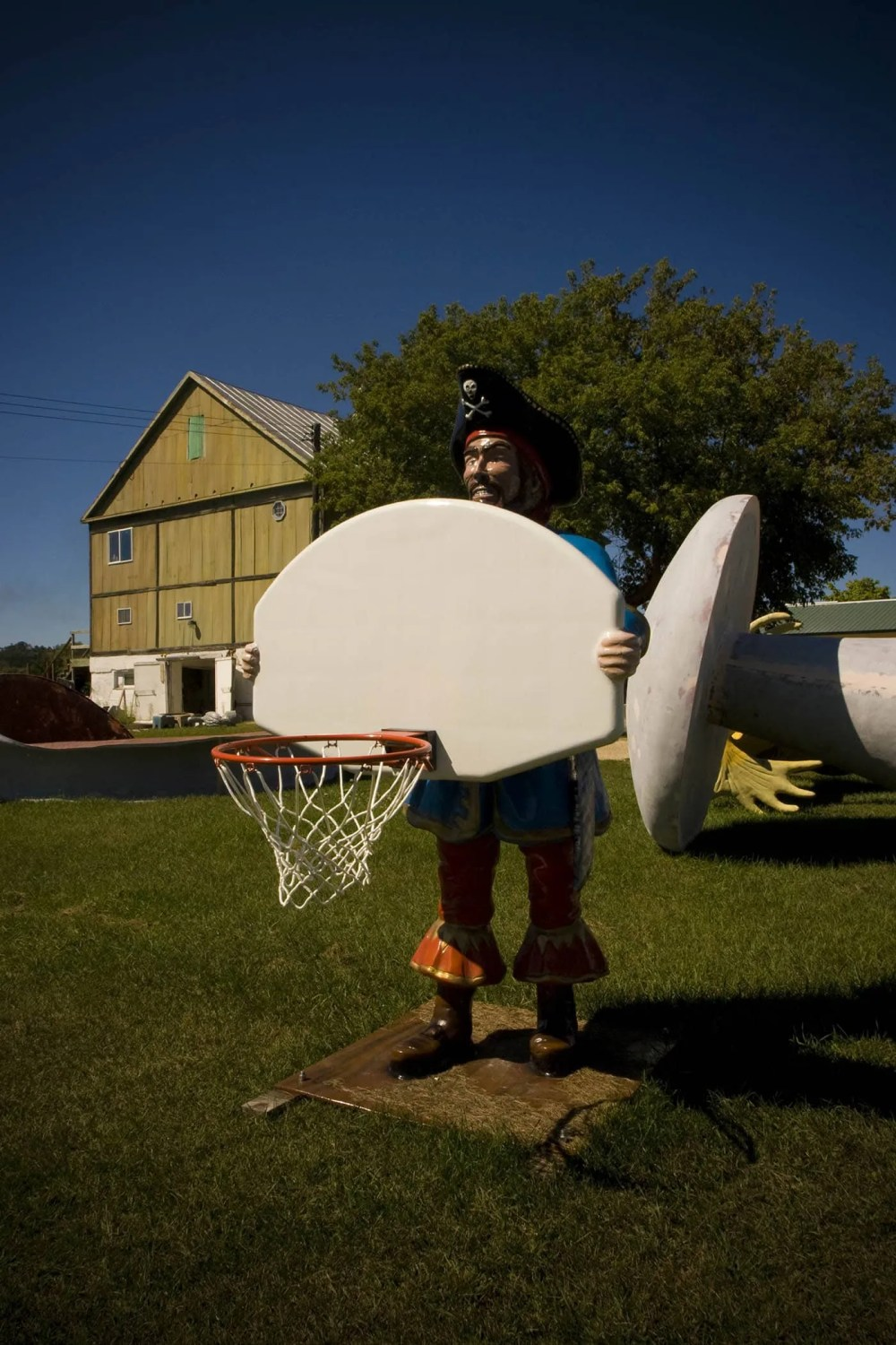 Fiberglass Pirate with Basketball Hoop - F.A.S.T. - Fiberglass Animals, Shapes & Trademarks in Sparta, Wisconsin