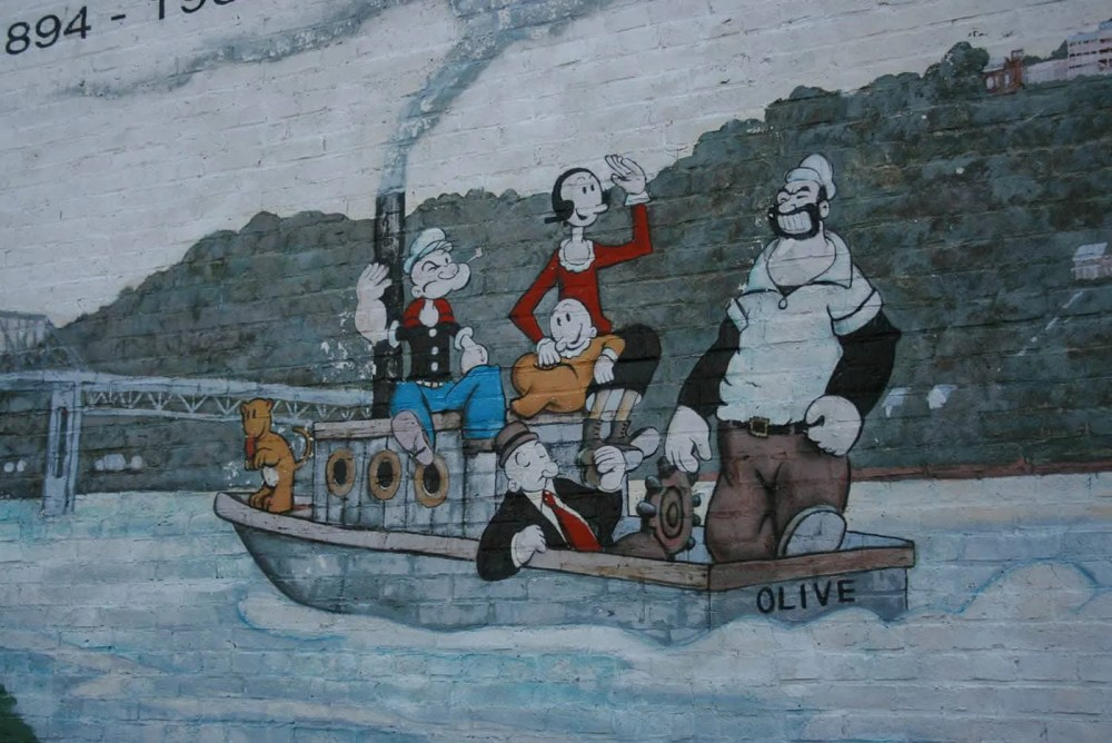 Popeye Mural in Chester, Illinois