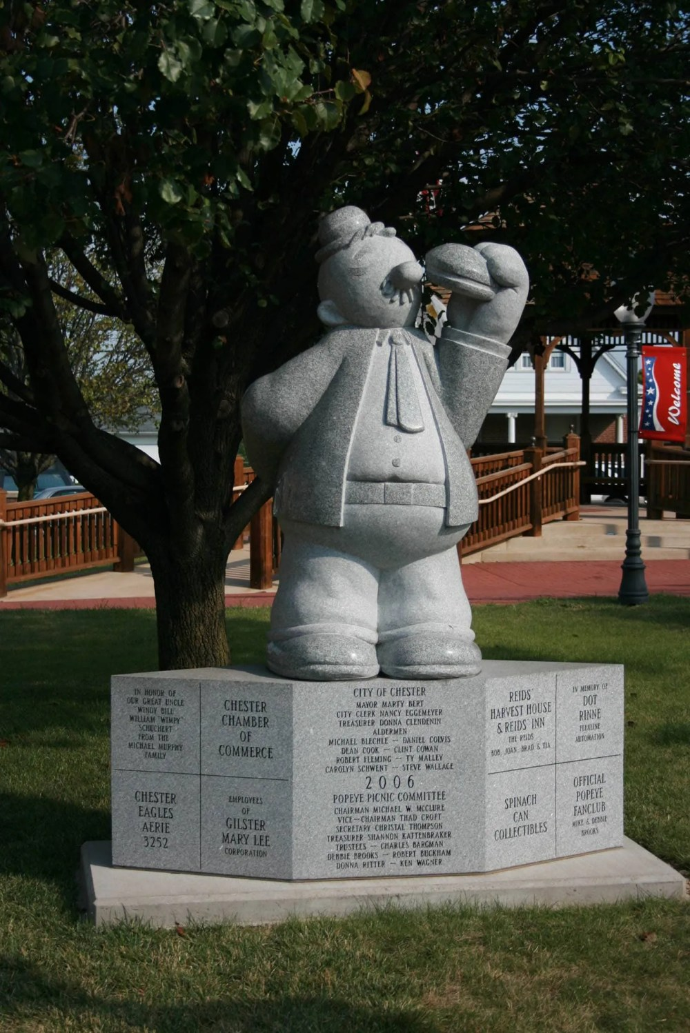 Popeye's Wimpy Statue in Chester, Illinois