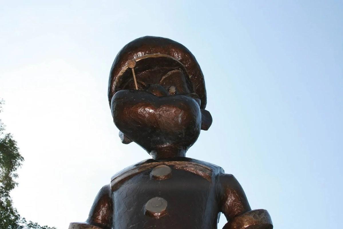 Popeye Statue in Chester, Illinois
