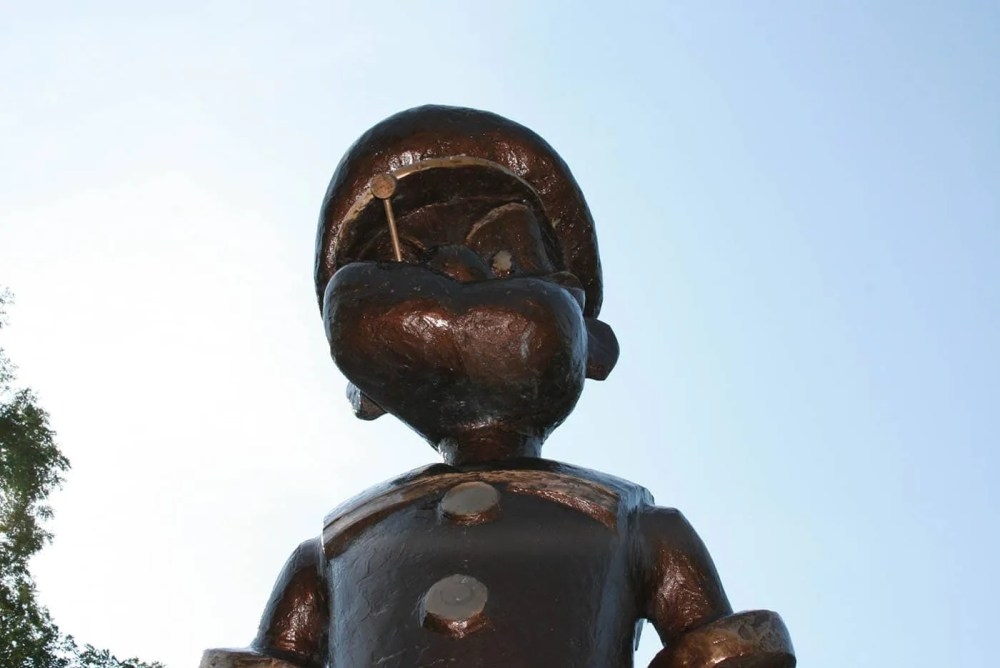 Popeye statue in Chester, Illinois | Home of Popeye the Sailor Man
