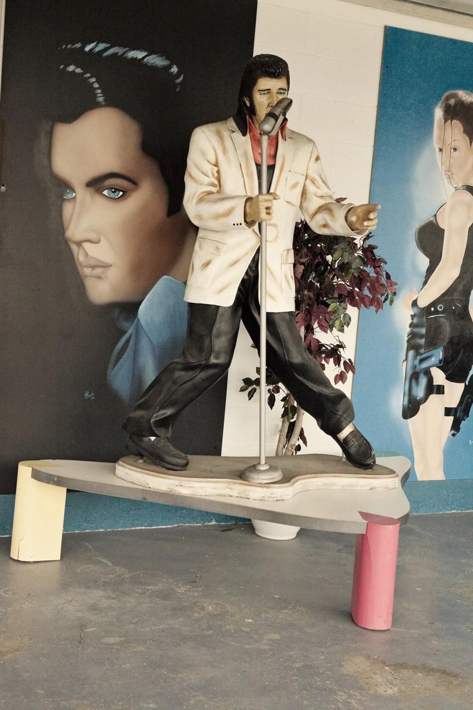Elvis memorabilia at Americana Hollywood Museum in Metropolis, Illinois