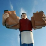 Big John Grocery Clerk in Metropolis, Illinois