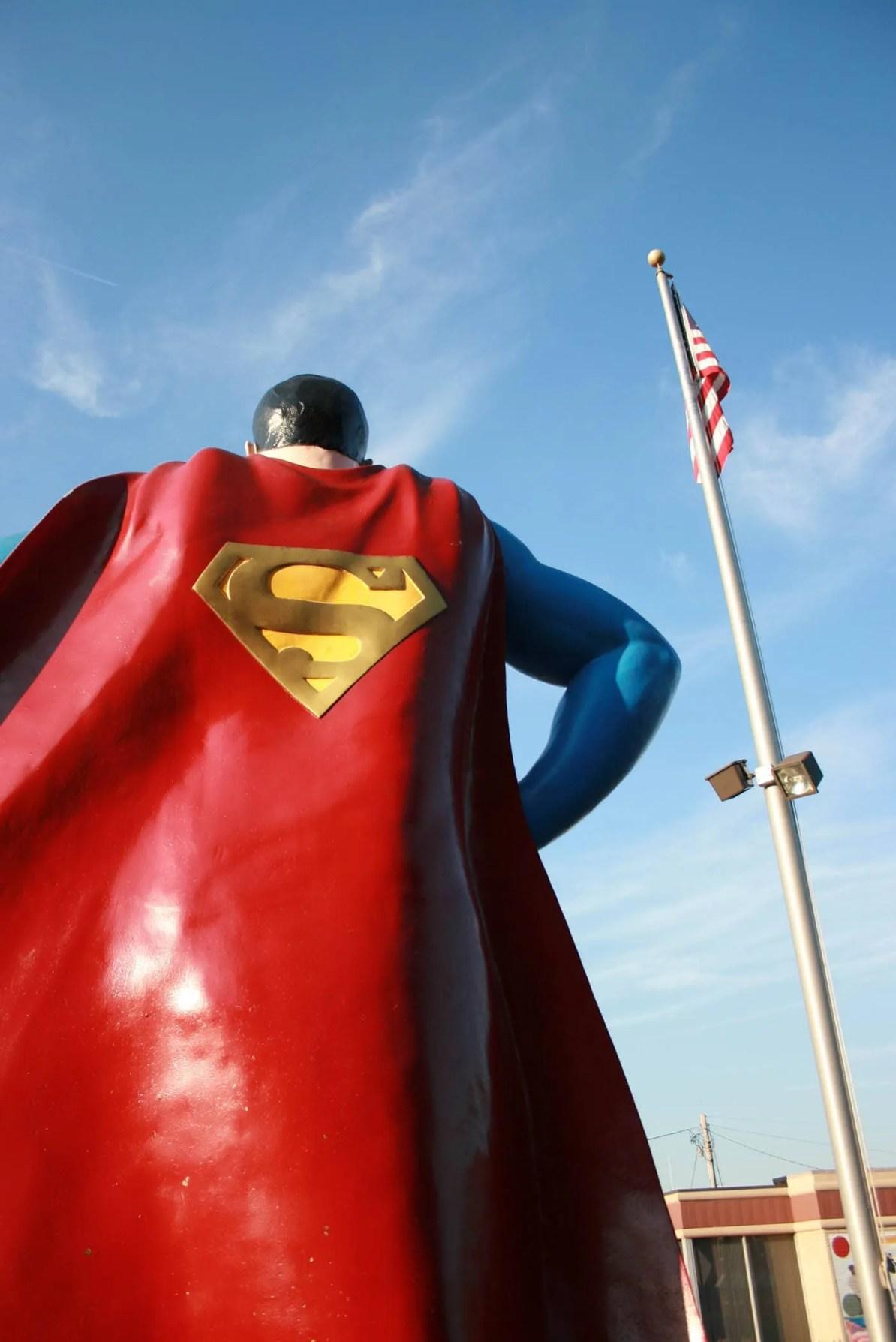 Giant Superman Statue in Metropolis, Illinois