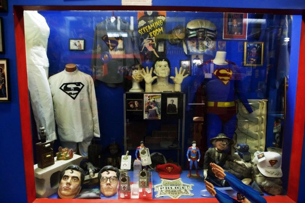 Superman memorabilia at the Super Museum in Metropolis, Illinois.